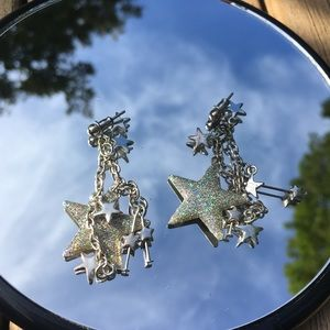 Claire's Jewelry - Sparkle Star Statement Earrings